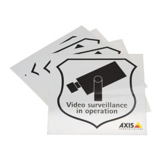 SURVEILLANCE STICKER ENG 50PCS